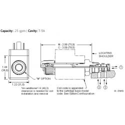 DBAAMCN 3-way, solenoid-operated directional spool valve - pilot capacity