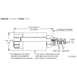 DBALSHN 3-way, soft shift, solenoid-operated directional spool valve - pilot capacity