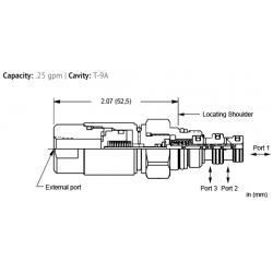 DBAPFCN 3-way, air-operated, spool directional valve - pilot capacity