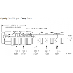 DCFCXCN 4-way, 3-position, pilot-to-shift directional valve