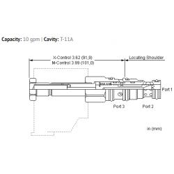 DMDBXAN Value Series, 3-way, solenoid-operated directional spool valve - 3600 psi