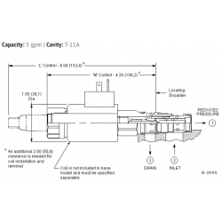 PRDLMDN Electro-proportional, direct-acting, pressure reducing/relieving valve with open transition