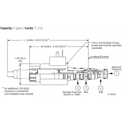 PSDLMDN Electro-proportional, direct-acting, pressure reducing/relieving valve with open transition and drain to port 4