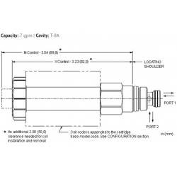 DTAFXCN FLeX Series, 2-way, direct-acting, solenoid-operated directional blocking poppet valve