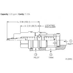 LRJCXHN Normally closed, modulating element