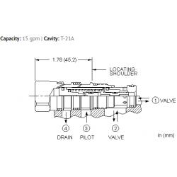 DKDSXHN Normally closed, balanced poppet, logic element - pilot-to-open