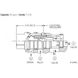 DKHSXHN Normally closed, balanced poppet, logic element - pilot-to-open
