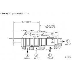 DOHSXHN Normally open, balanced poppet, logic element - pilot-to-close