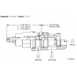 RVGBLAN Normally closed modulating element valve with relief function