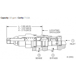 RVCBLAN Normally closed modulating element valve with relief function