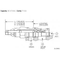 QPAALAN 15%, accumulator sense, pump unload valve - pilot capacity