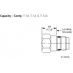 XCOAXXN All ports open cavity plug