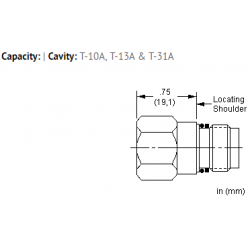 XFOAXXN All ports open cavity plug