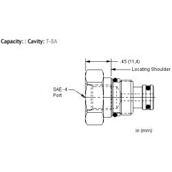 XACAEXN Port 1 to external port, port 2 blocked cavity plug