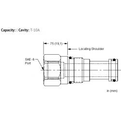 XFCAEXN Port 1 to external port, port 2 blocked cavity plug