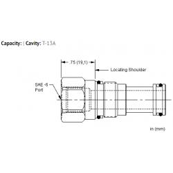 XGCAEXN Port 1 to external port, port 2 blocked cavity plug