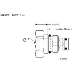 XACCEXN Port 2 to external port, port 1 blocked cavity plug
