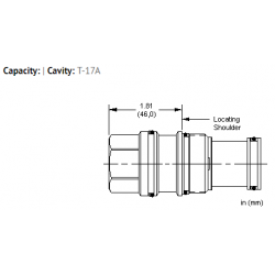 XHCAXXN All ports blocked cavity plug