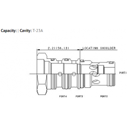 XPOCNXN T-23A cavity to T-21A cavity or T-22A cavity converter