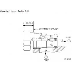 FQGAXAN Fixed orifice, flow fuse valve