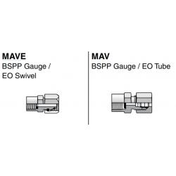 MAV / MAVE BSPP Gauge / EO Swivel