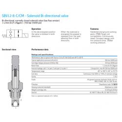SBV12-8-C/CM - Solenoid Bi-directional valve