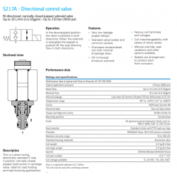 S217A - Directional control valve