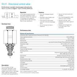S519 - Directional control valve
