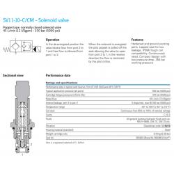 SV11-10-C/CM - Solenoid valve