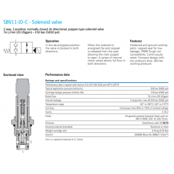 SBV11-10-C - Solenoid valve