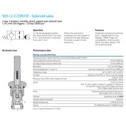 SV3-12-C/CM/CR - Solenoid valve