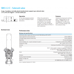 SBV1-12-C - Solenoid valve