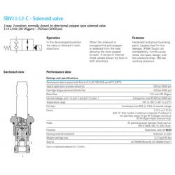 SBV11-12-C - Solenoid valve