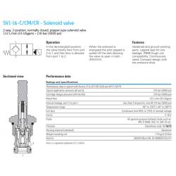SV1-16-C/CM/CR - Solenoid valve