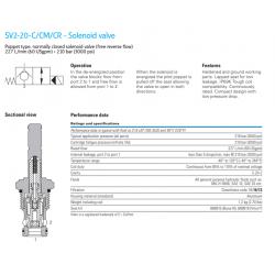 SV2-20-C/CM/CR - Solenoid valve