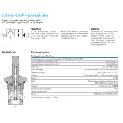 SV13-20-C/CM - Solenoid valve