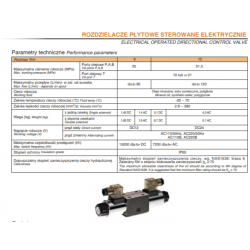 Electrical operated directional control valve HPxWE