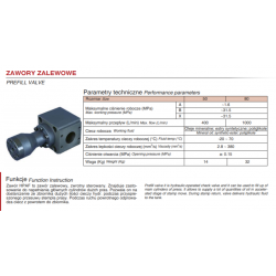 Prefill valve HPAF