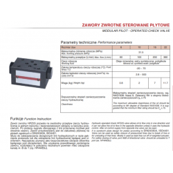 Zawory zwrotne sterowane płytowe HPZ2S
