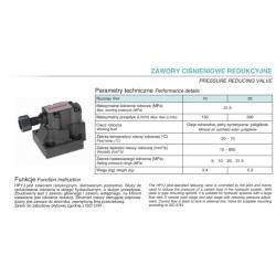 Pressure reducing valve HPYJ