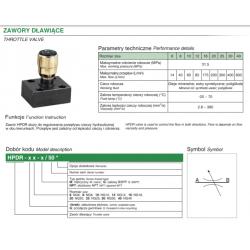 Throttle valve HPDR