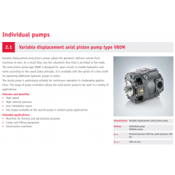 Variable displacement axial piston pump type V80M