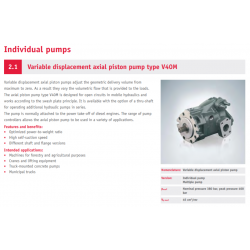Variable displacement axial piston pump type V40M