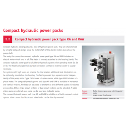 Compact hydraulic power pack type KA and KAW