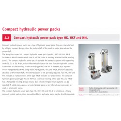 Compact hydraulic power pack type HK, HKF and HKL