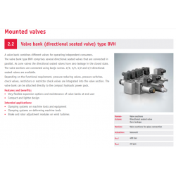 Valve bank directional seated valve type BVH