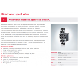 Proportional directional spool valve type EDL
