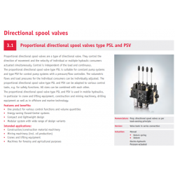 Proportional directional spool valves type PSL and PSV