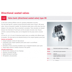 Valve bank directional seated valve type VB