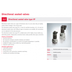 Directional seated valve type VP